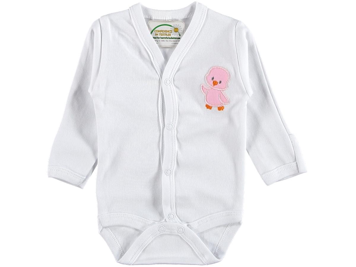 Боди детское 203123 с розовой уточкой