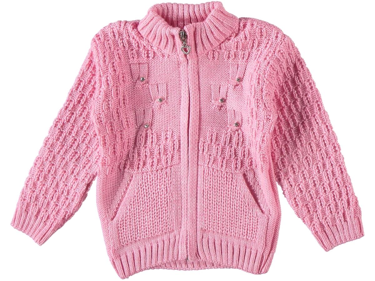 Кофта вязаная розовая 307176
