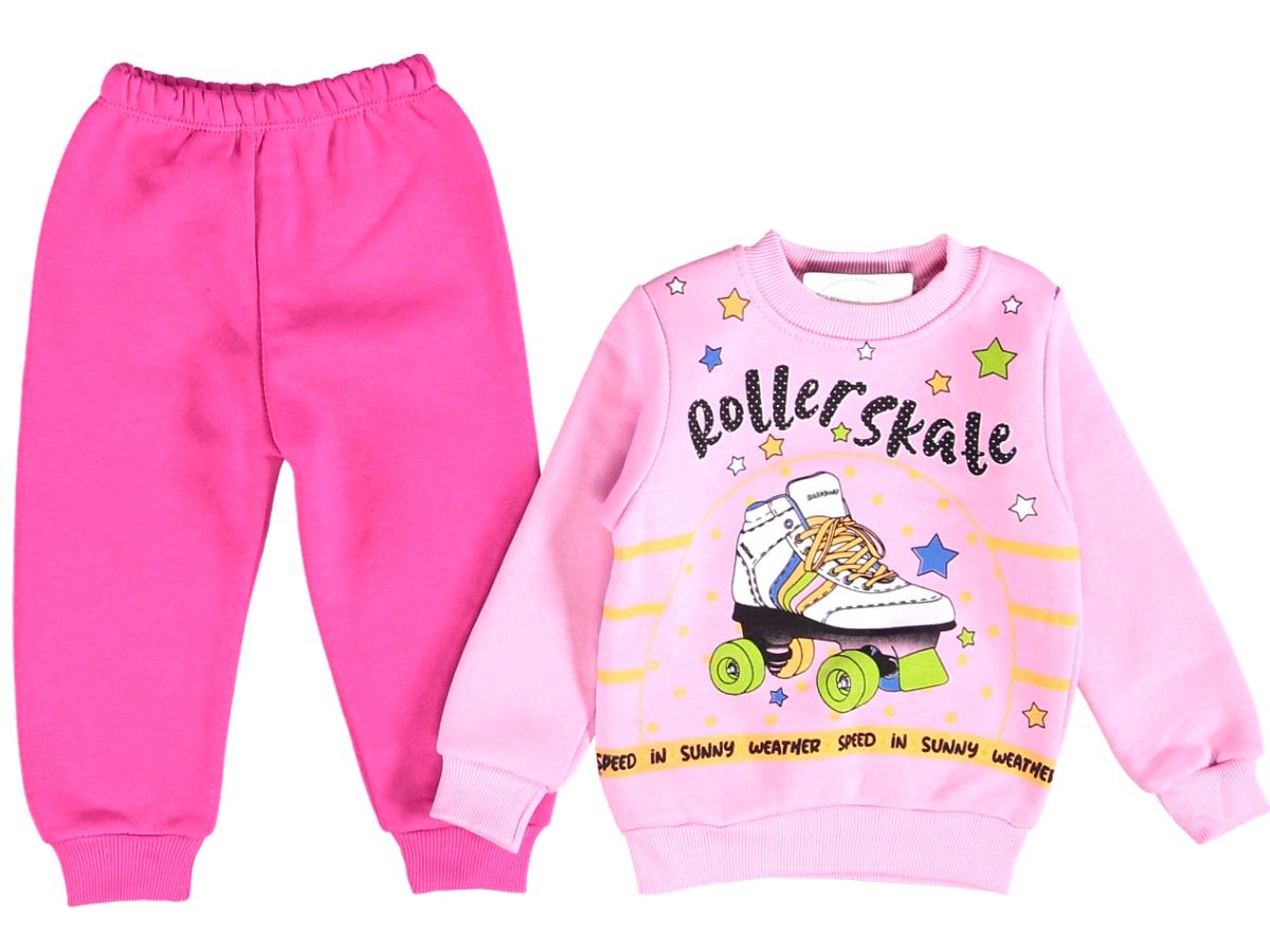 Костюм теплый на девочку розового цвета 310709