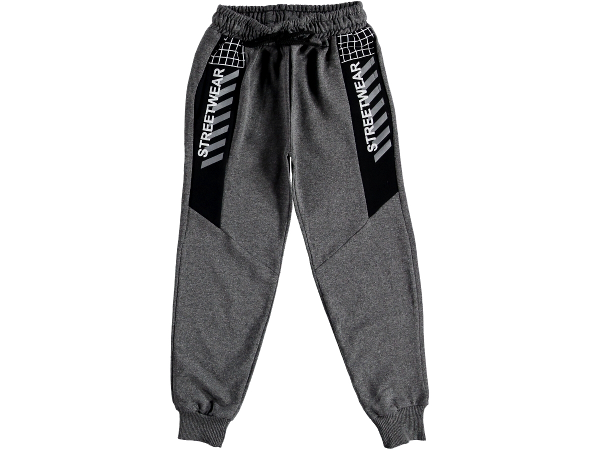 Спортивные штаны на мальчика тёмно-серые 315859