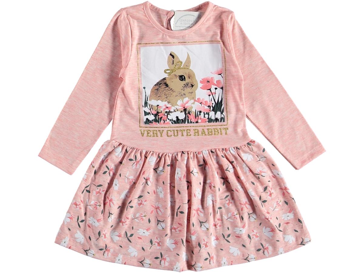 Платье трикотажное 6/18 мес персиковое 317321