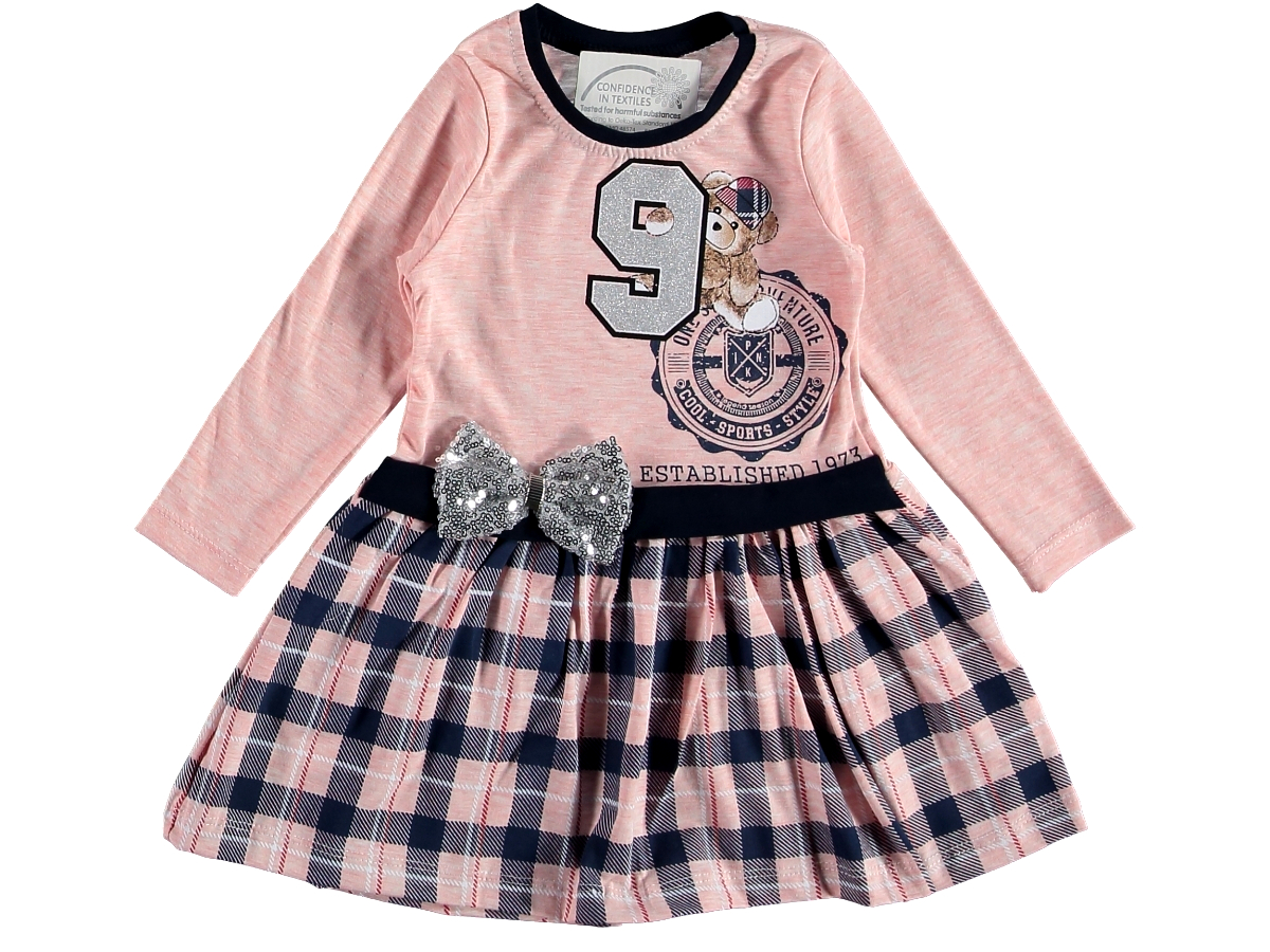 Платье на девочку персиковое трикотаж 1/3 года 317335