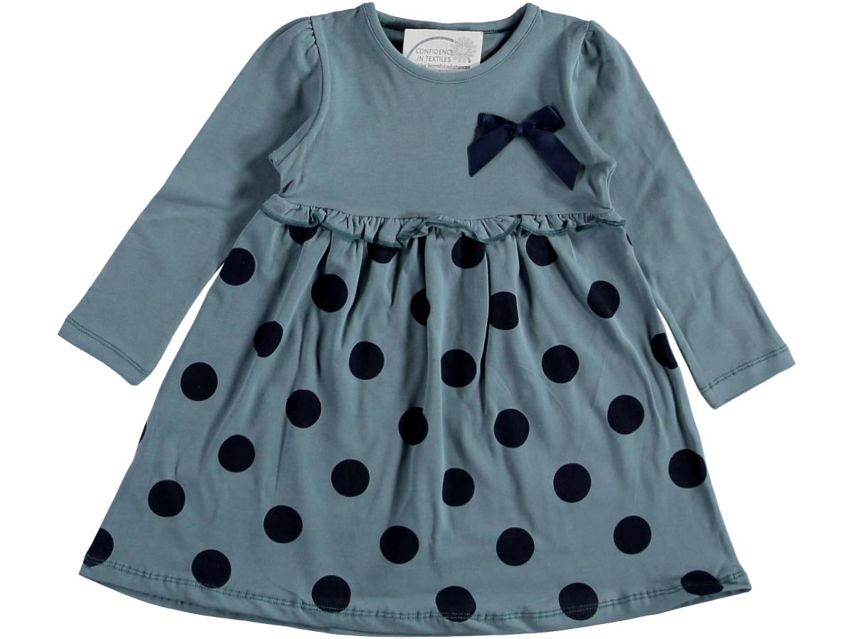 Платье с горох 2/5 лет синее 318350